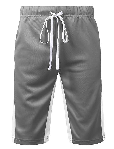 urbancrews para hombre Hipster Hip Hop 45 Varsity pantalones cortos de  diseño de rayas  Amazon.es  Ropa y accesorios 58411ecb2bf