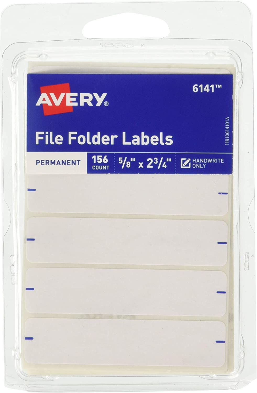 Avery Permanent File Folder Labels 2.75 x 0.625 Inches, White 156 labels : All Purpose Labels : Office Products
