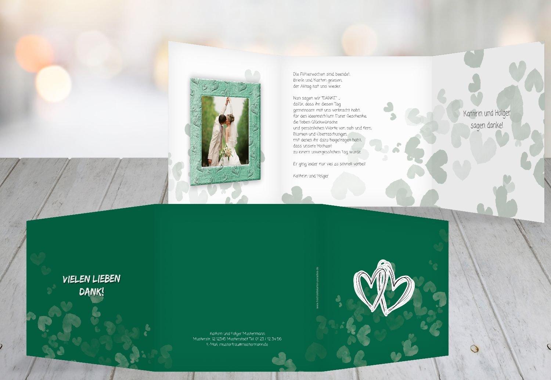 Kartenparadies Danksagung für Hochzeitsgeschenke Hochzeit Dankeskarte Liebesglück, hochwertige Danksagungskarte Hochzeitsglückwünsche inklusive Umschläge   20 Karten - (Format  145x145 mm) Farbe  Türkisblaukräftig B01NAV