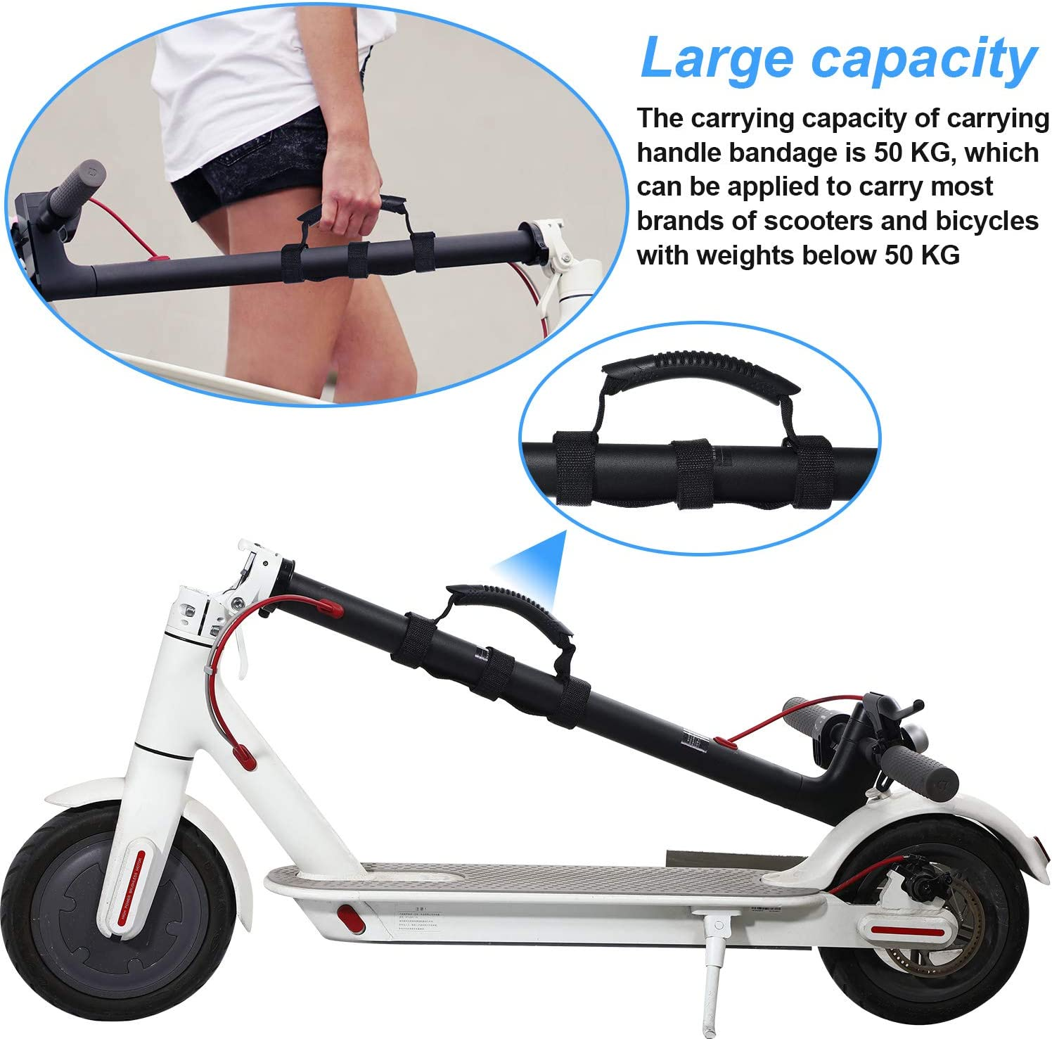 Hand Strap Electric Scooter Belt Holder Handle Outdoor Fit For Xiaomi Ninebot