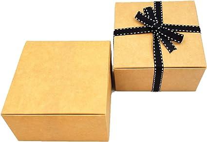 Paquete con 10 x montaje Caja de Regalo (Código # B) cartón plano paquete montaje Caja de Regalo apto para chocolate, joyas, pequeño Regalos: Amazon.es: Oficina y papelería