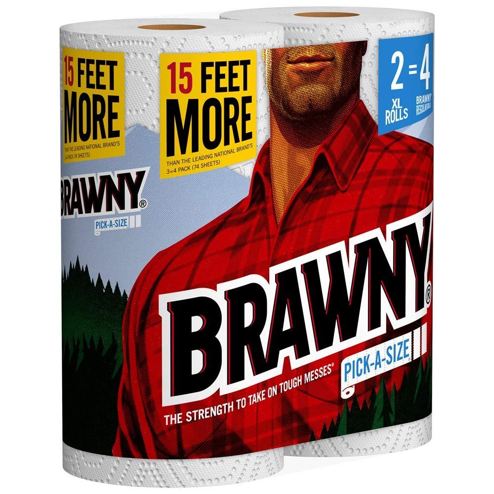 Brawny Paper Towels, 16 XL Rolls, Pick-A-Size, White, 16 = 32 Regular Rolls by Brawny (Image #4)