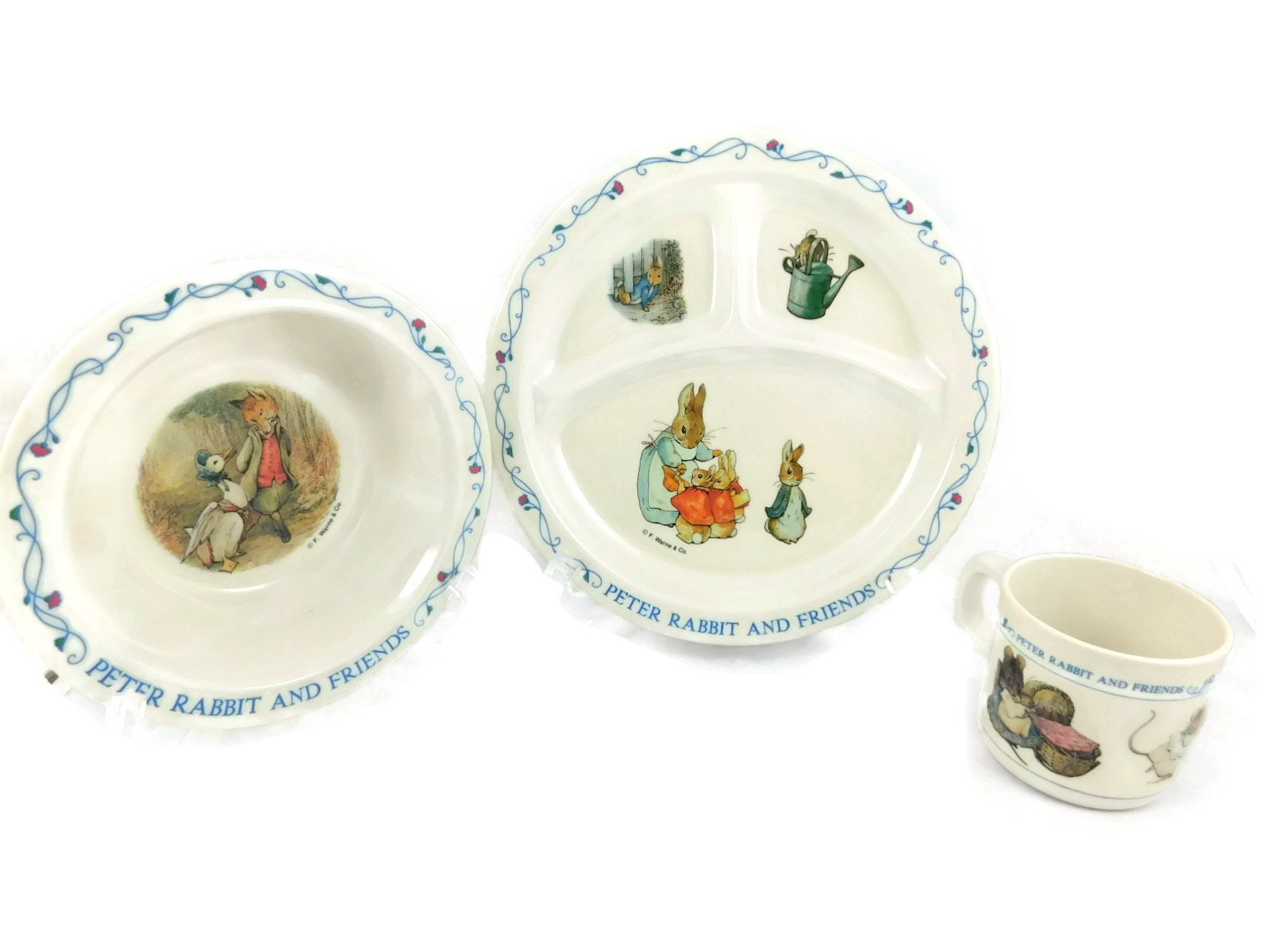 Beatrix Potter Peter Rabbit and Friends 3 Piece Set