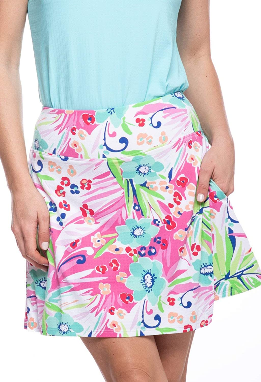 Ibkul Womens Annie Floral Print Skort