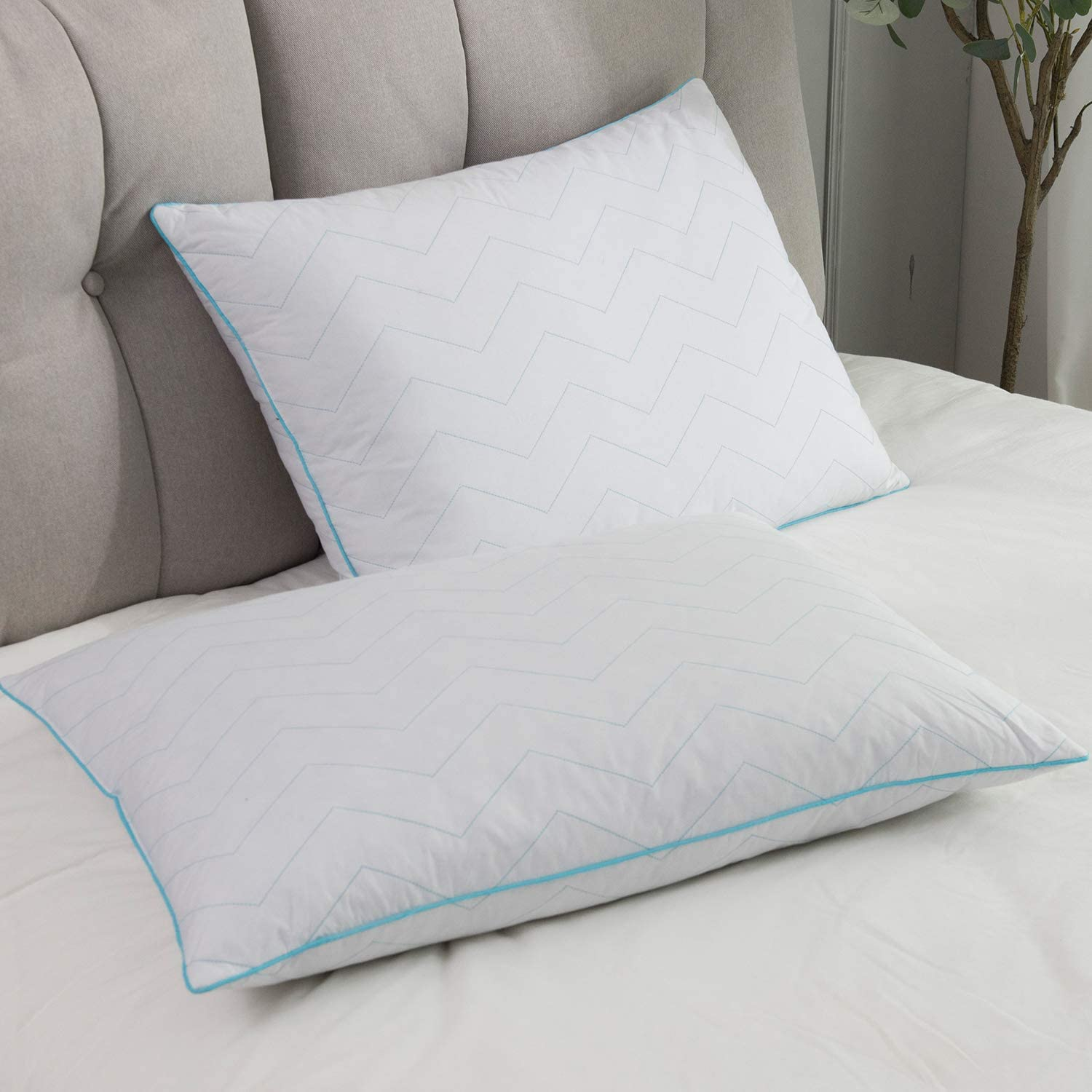 Dream High Natural Goose Down Feather Pillow Inserts for Good Sleeping,Hotel Colection,Natural Filling,Luxury