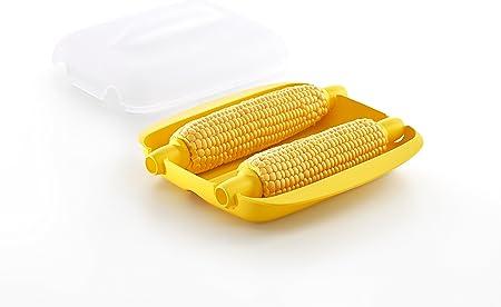 Lékué Cocedor para Maiz, Amarillo, 21.8x21.8x9.3 cm: Amazon.es