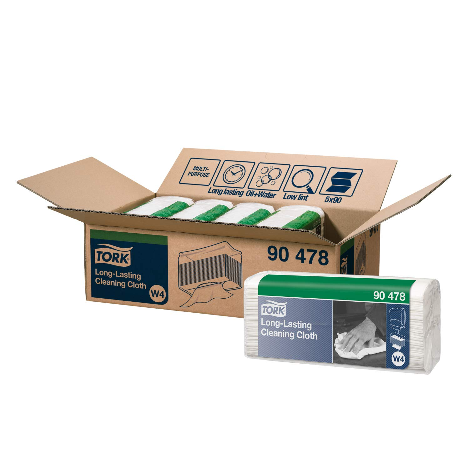 Tork Durable Cleaning Cloths Folded W4