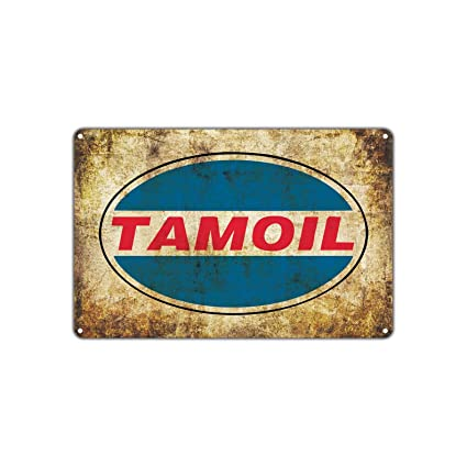 Tamoil Petroleum Auto Gasoline Oil Gas Station Retro Vintage Retro Metal  Wall Decor Art Store Man