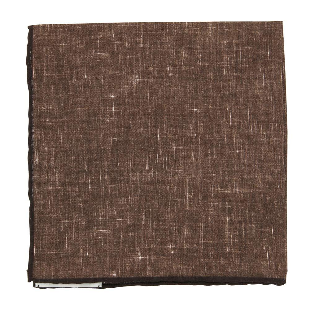 New Fiori Di Lusso Brown Melange Pocket Square x 12