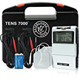 TENS 7000 Digital TENS Unit With Accessories - TENS Unit Muscle Stimulator For Back Pain, General Pain Relief, Neck Pain, Mus