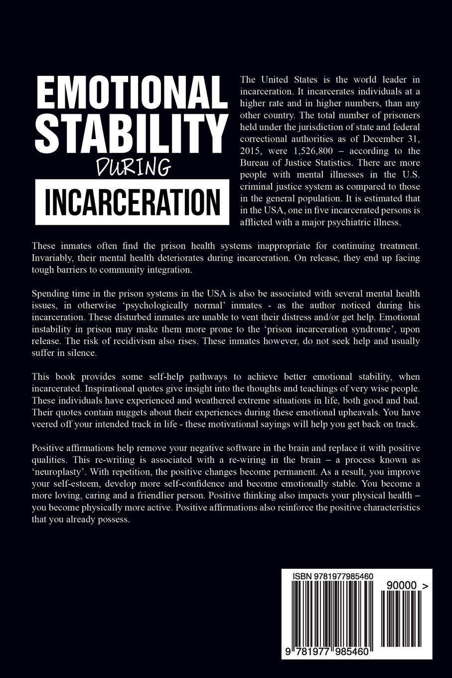 Amazoncom Emotional Stability During Incarceration Achieving And