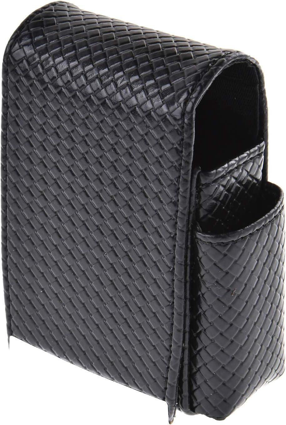 Quantum Abacus Caja/Funda para Paquetes de cigarillos de Cuero PU de Apariencia Entretejido, con Compartimento Adicional para un mechero Mini, Color: Negro, Mod. 328-01: Amazon.es: Equipaje