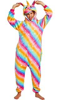 from Age 3 to Adult Sizes Mane and Tail Dannii Matthews Super Soft Unicorn Onesies with Horn