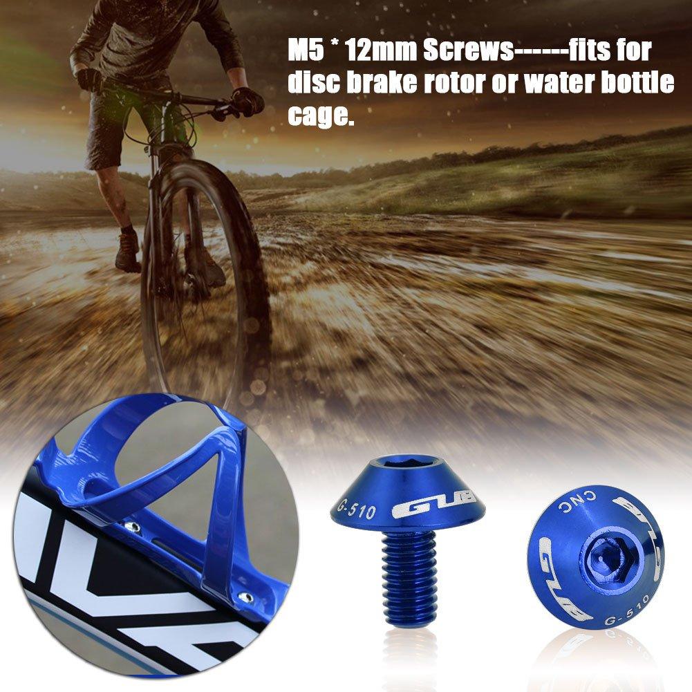 Juego de 2 piezas M5 x 12 mm para pernos de botella de agua para bicicleta juego de piezas para bicicleta
