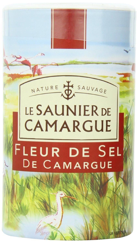 Le Saunier De Camargue Fleur De Sel Sea Salt, 35.27-Ounce (1 Kg) Canister (3 PACK) by Le Saunier De Camargue