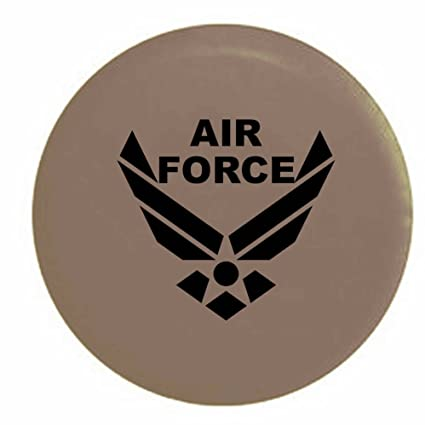 Pike USAF Air Force Military Trailer RV Spare Tire Cover OEM Vinyl Tan 27.5 in