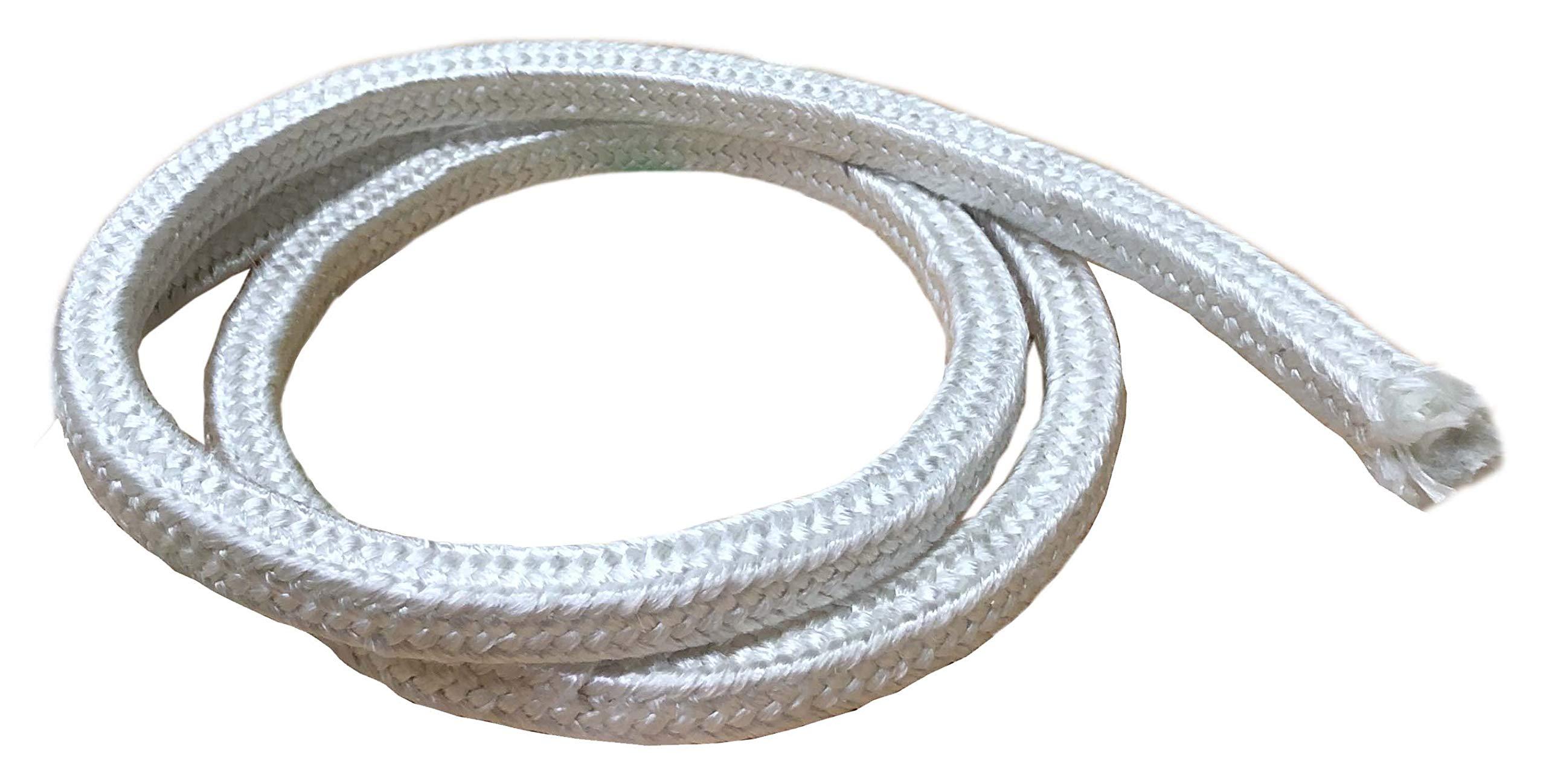 MinGlas Rope Seal - Fiberglass Square Braided Rope Gasket 1'' x 25 feet, Firm High-Density, Stove Boiler Furnace Oven Kiln Door Seal Gasket