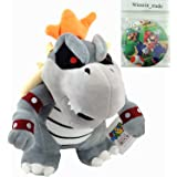 "Generic Dry Bowser Bones New Super Mario Bros Character Skeletal Koopa Plush Toy Stuffed Animal Figure 10"""