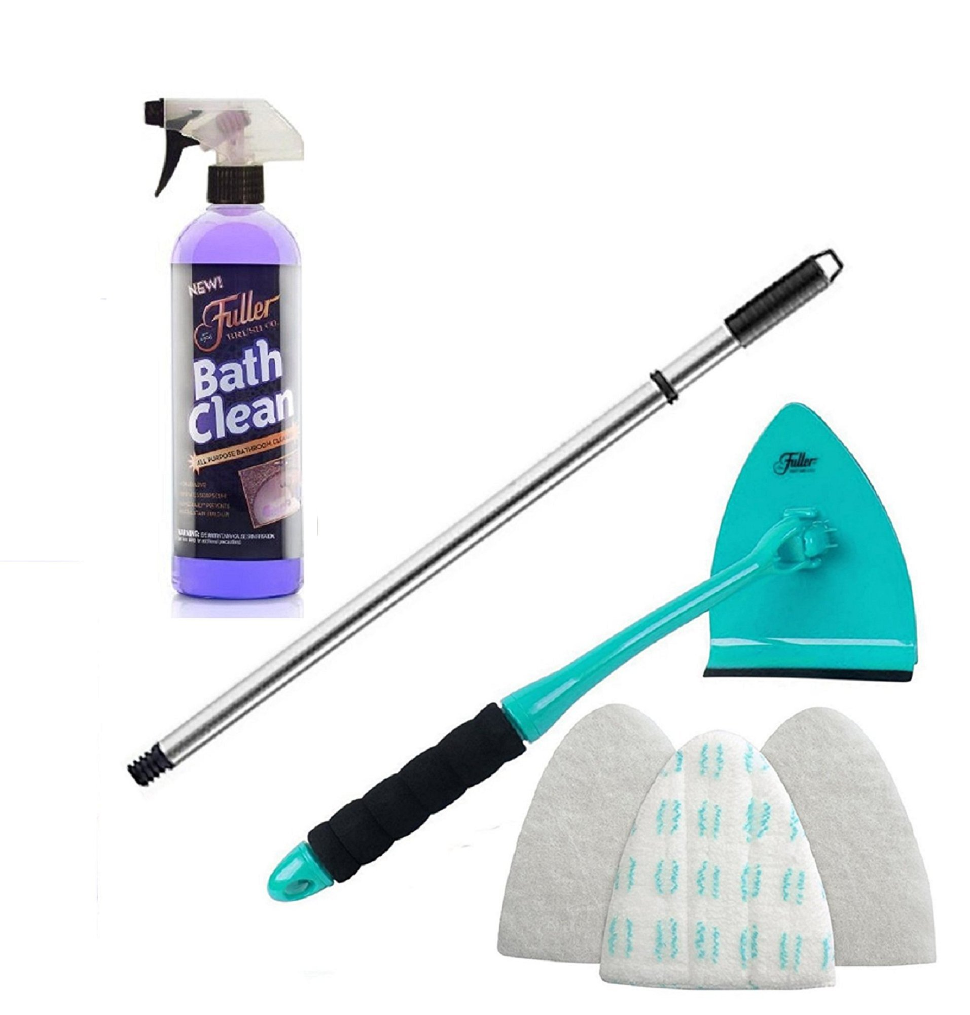Fuller Brush BathClean Tile and Bathroom Scrubbing Kit with Big EZ Extendable Reach Bath Scrubber & Squeegee by Fuller Brush