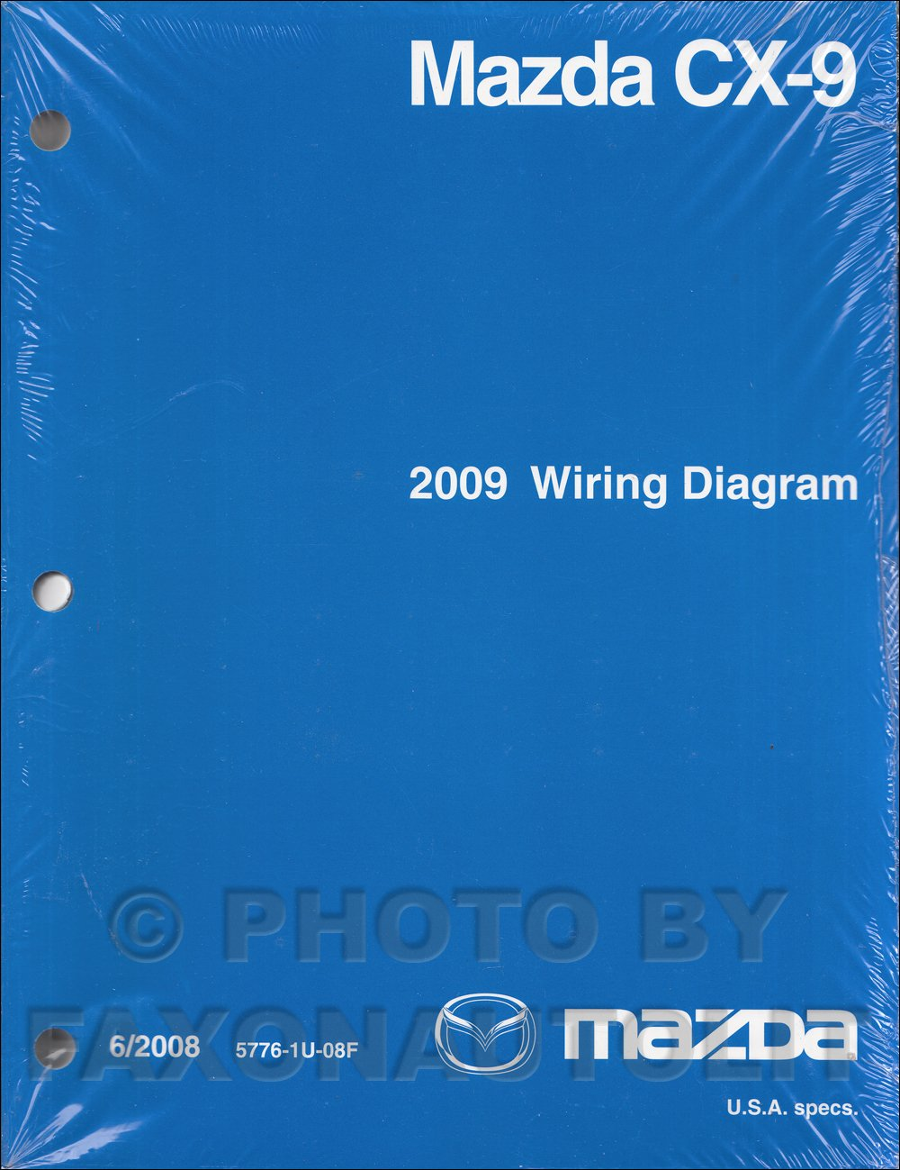 2009 mazda cx-9 wiring diagram manual original paperback – 2009