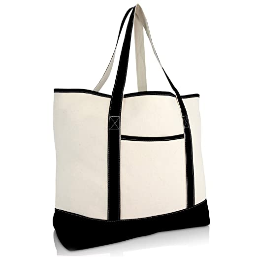 """b9389fac05e985 22"""" Extra Large Zippered Shopping Tote Grocery Bag with Outer Pocket  ..."""