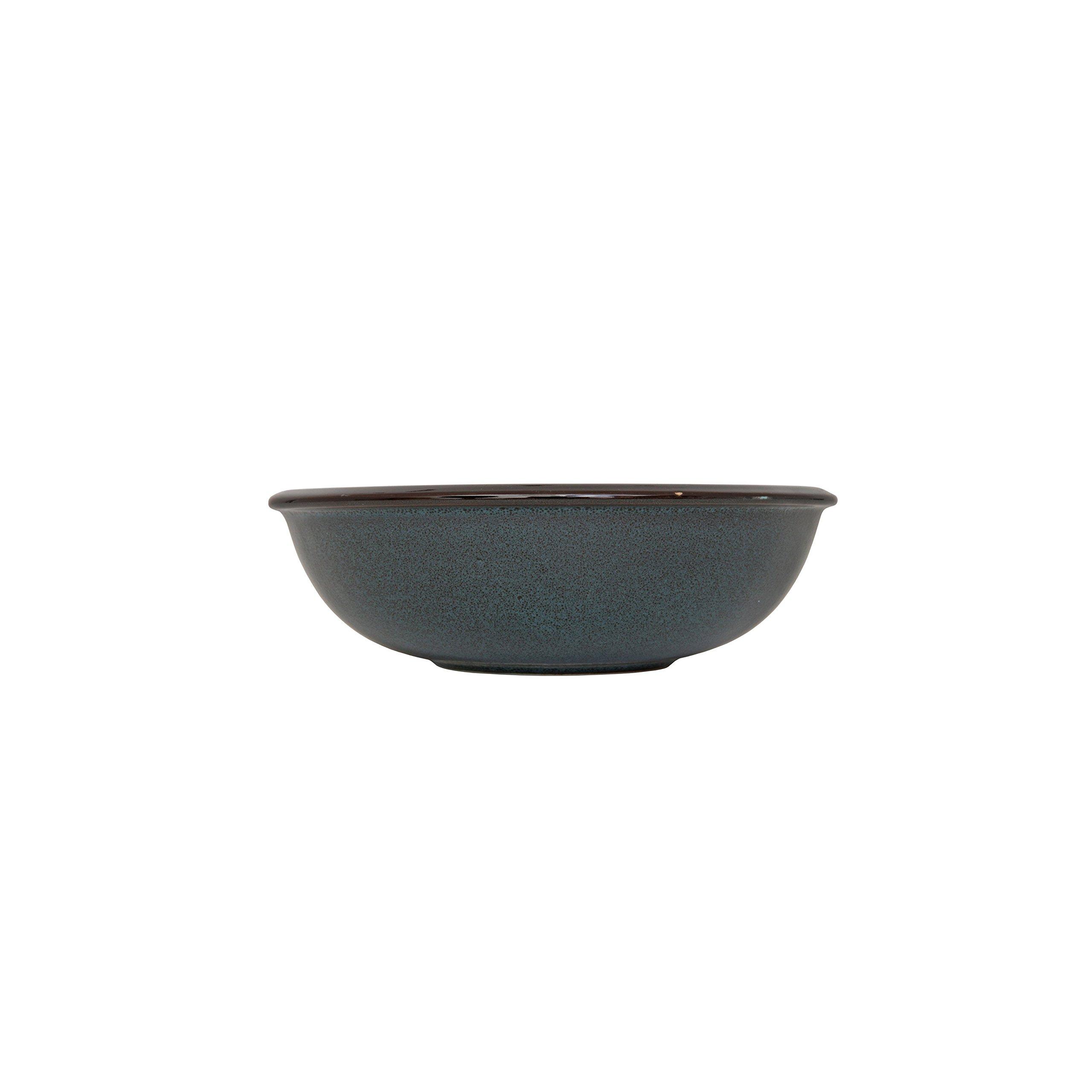 D&V 6 Piece Stōn Porcelain Dinnerware Bowl Set, 7'' x 2.25'', Twilight