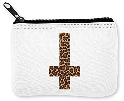 Leopard Print Inverted Cross Cool Sexy Tiger Monedero de la ...
