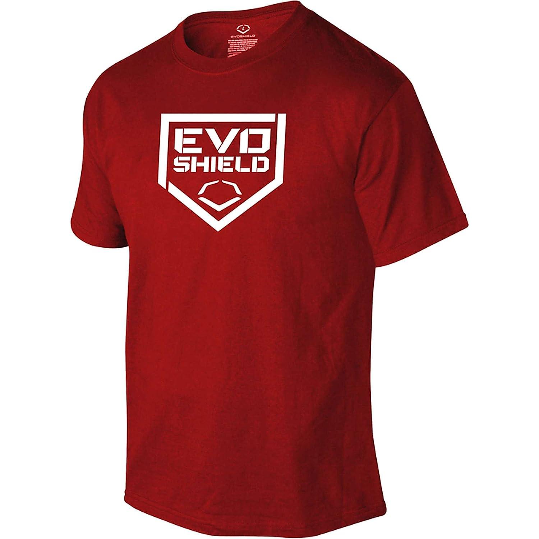 Evoshield野球ホームプレートメンズTシャツ B00IAFN3ZQ M|レッド レッド M