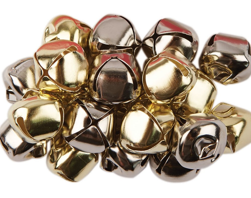 20 Silver & Gold Jingle Bells for Crafts - 20mm | Craft Bells | Arts & Crafts Crafty Capers