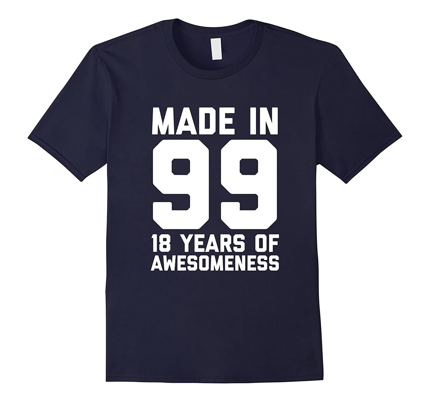 18th Birthday Shirt Gift Age 18 Year Old Boy Girl Tshirt Tee-FL