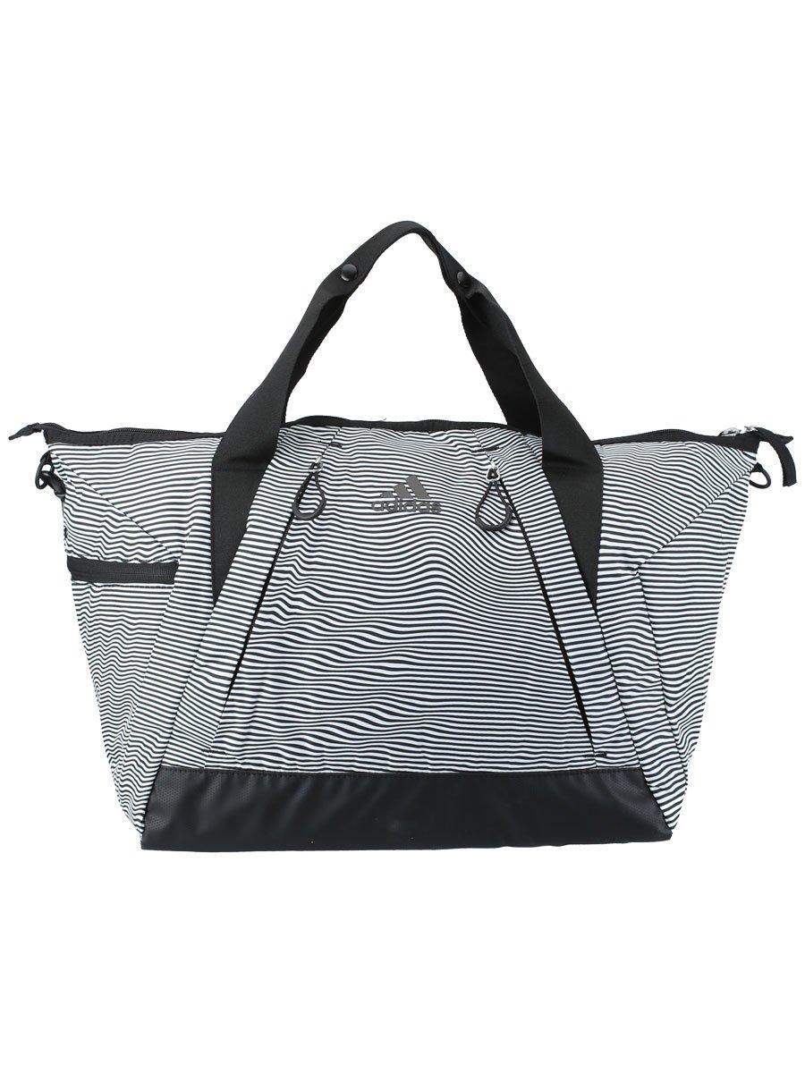 adidas Studio II Duffel Bag, Optic Stripe/Black, One Size