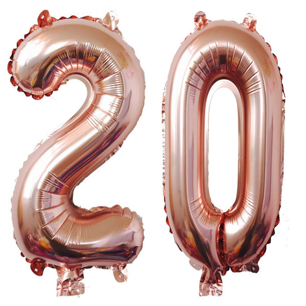 40inch Rose Gold Foil 20 Helium Jumbo Digital Number Balloons, 20th Birthday Decoration for Girls or Boys,20 Birthday Party Supplies MAGJUCHE