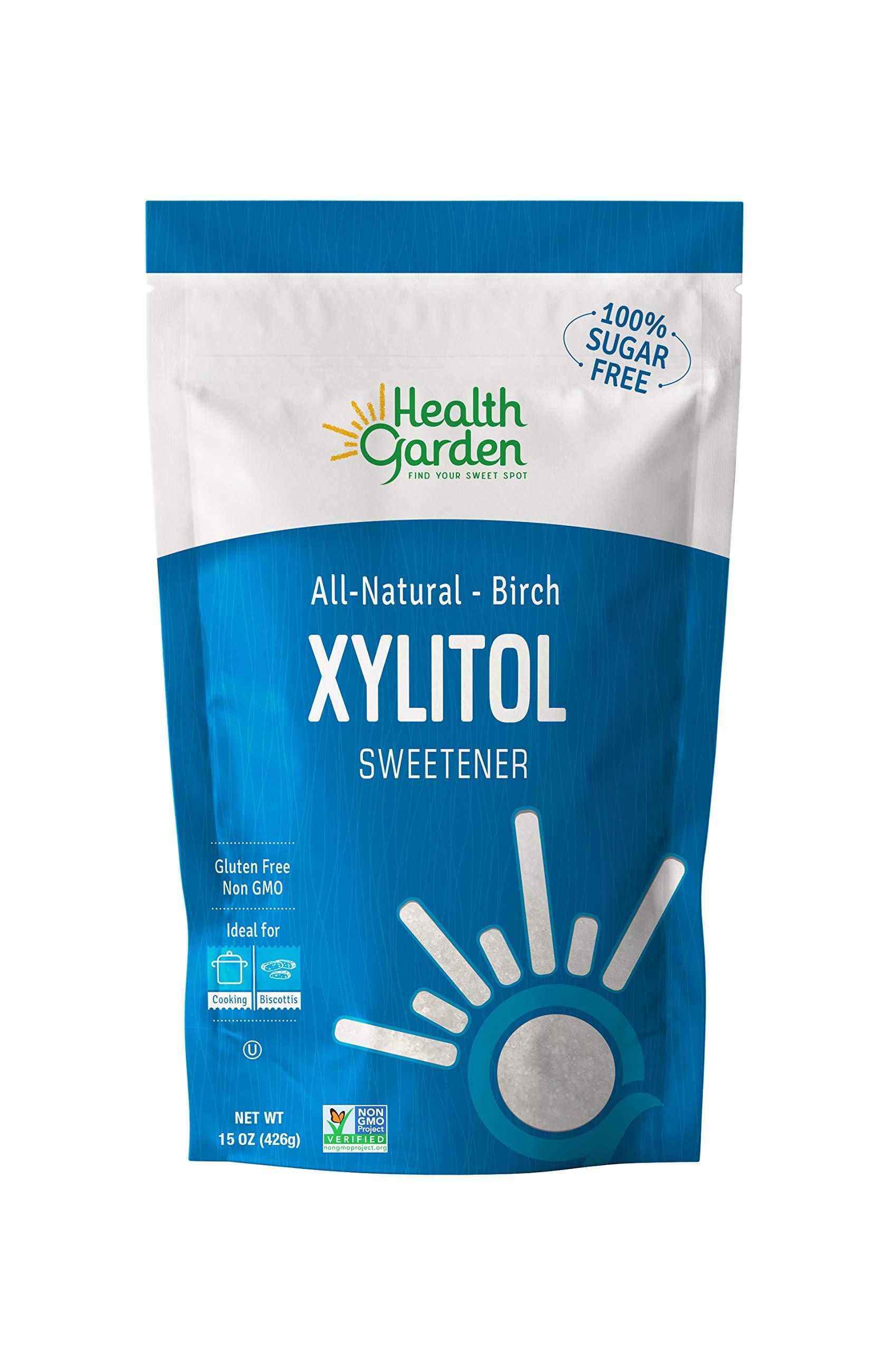 Birch Xylitol Sugar Free Sweetener - 100% All Natural, Non GMO, Health Garden Great for KETO diet 15 OZ by HEALTH GARDEN (Image #1)