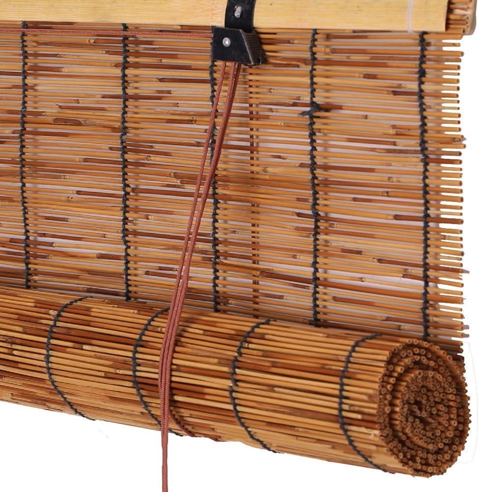 Protection Solaire//Respirante//Intimit/é Deevin Stores en Bambou Convient /À Lint/érieur Et /À Lext/érieur Stores /À Enrouleur Rideaux Rideaux en Paille Naturelle