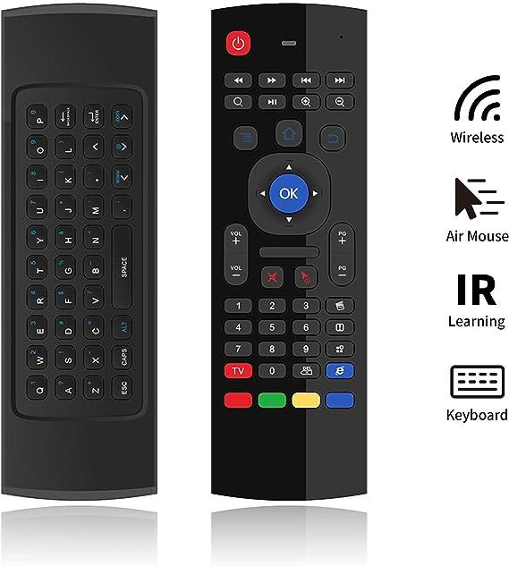 PULIER MX3 Pro Air Mouse Teclado Inalámbrico IR Aprendizaje Mando a Distancia 81 Teclas Mini Teclado para Smart TV Google Android TV Laptop HTPC TV-Box IPTV: Amazon.es: Electrónica
