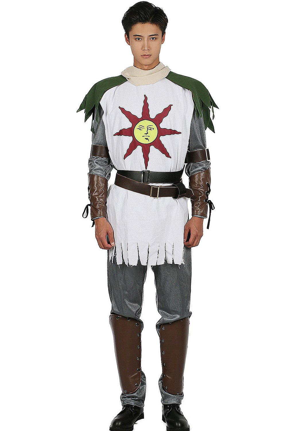 Solaire Costume Sun Warrior Outfit for Halloween Cosplay L