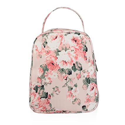 4cfc0facb5f2 wonderful flower women insulated fashionable lunch bag flower Small Lunch  Bag Lunch Bunch (19 Light Pink)