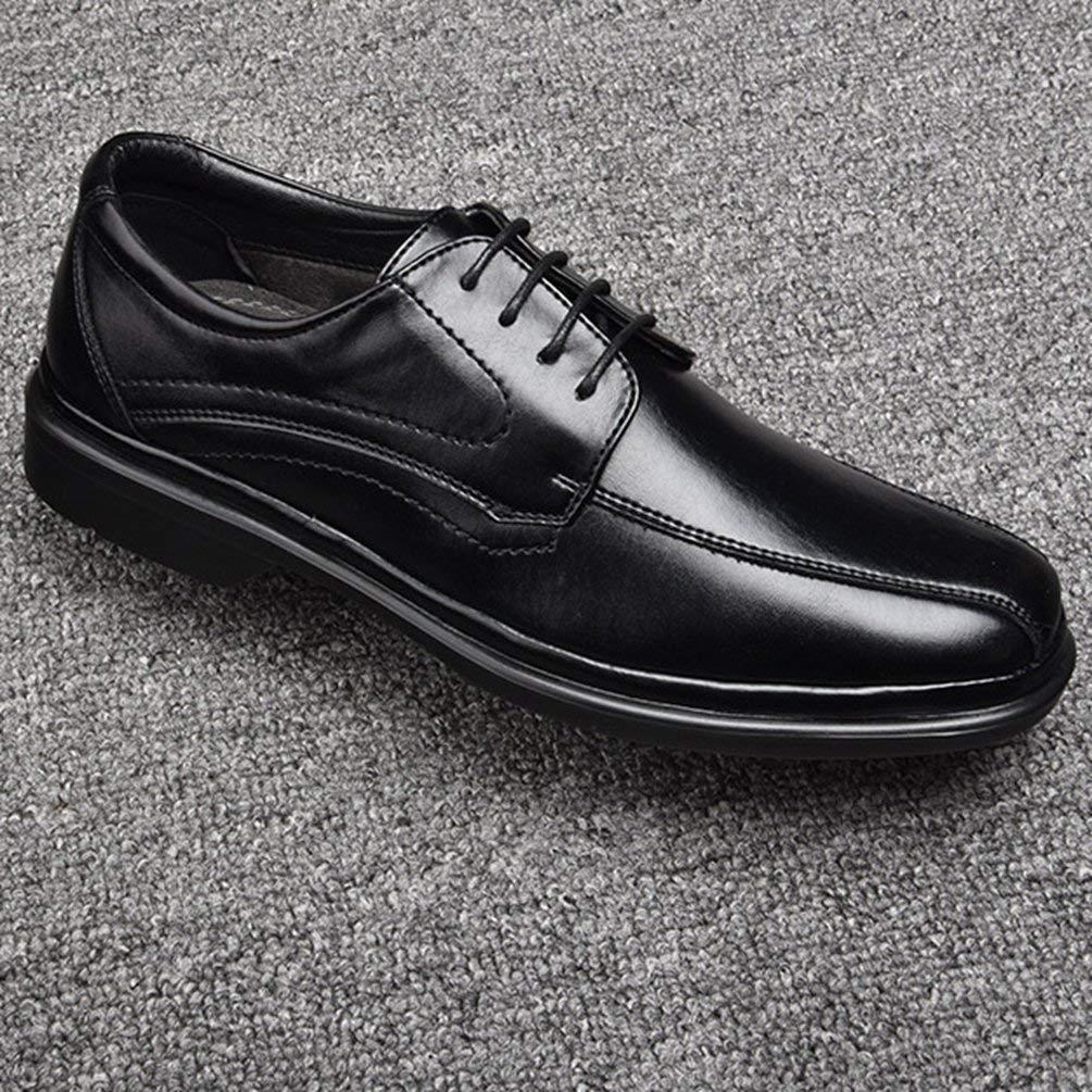 Herren Business Schuhe Mode Mode Mode Müßiggänger Sommerkleid Lederschuhe Breathable Casual Schuhe (Farbe   1 schwarz, Größe   11.5UK=47EU) 53a3ed
