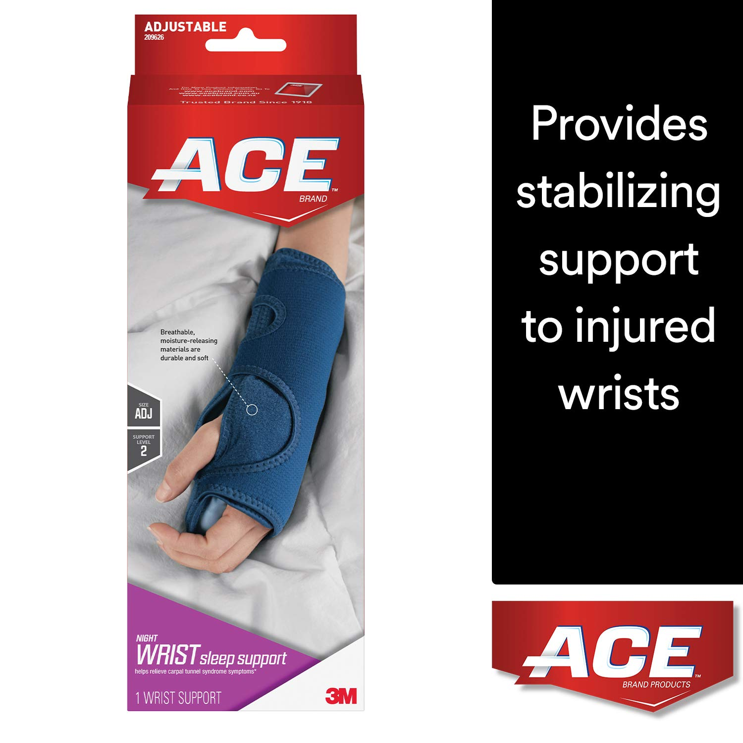 ACE Night Wrist Brace Sleep Support by ACE
