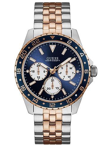 Guess Reloj Multiesfera para Hombre de Cuarzo con Correa en Acero Inoxidable W1107G3: Amazon.es: Relojes