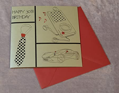 30th Birthday Card For Him Amazoncouk Kitchen Home