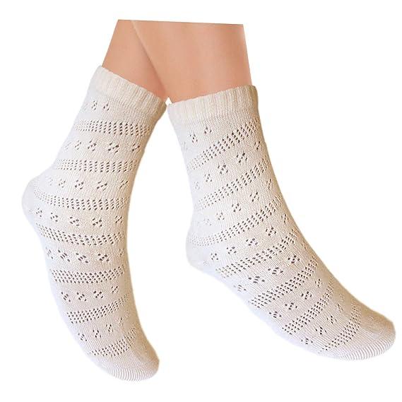 JHosiery calcetines damas Pointelle color solido con costuras planas ...