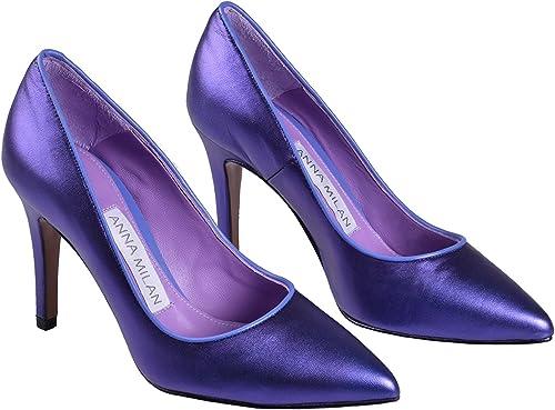 ANNA MILAN Zapatos De Salón Lucero para Mujer Violeta Brillante ...
