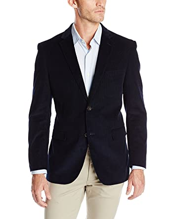 a5c75408a925 Zuckerfan Men's Corduroy Party Dress Suit Stylish Jacket Wedding Blazer(Navy  Blue,Small)