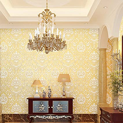 Laamei Non Woven Elegant Damascus Pattern Wallpaper Peel And Stick Wall  Papers Decoration For Livingroom