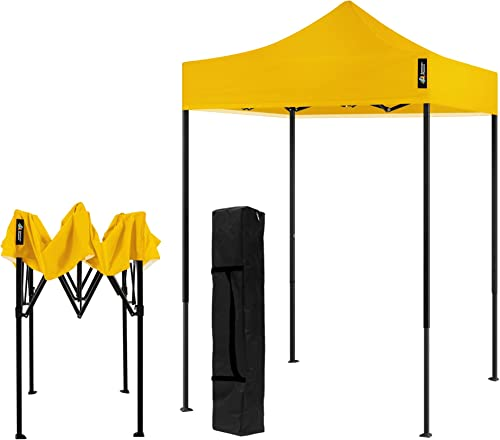 AMERICAN PHOENIX Canopy Tent 5×5 Pop Up Portable Tent Commercial Outdoor Instant Sun Shade 5'x5' Black Frame