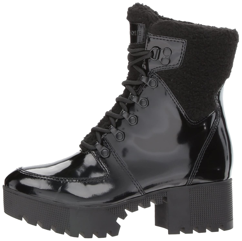 KENDALL + KYLIE Women's Paxton Combat Boot B0721XLHR7 9.5 B(M) US|Black