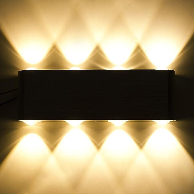 DaSinKo Modern 8W LED Up Down Wall Sconce Lighting Spotlight ...
