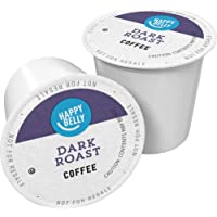 100-Count Amazon Brand Happy Belly Dark Roast Coffee Pods, Compatible with Keurig 2.0 K-Cup Brewers