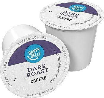 100-Count Amazon Brand Happy Belly Dark Roast Coffee Pods